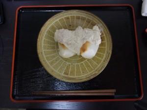 クルミと豆腐のソースでお餅を食べる!