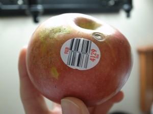 朝ごはんリンゴ